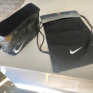 Nike Shoe bag and String Backpack